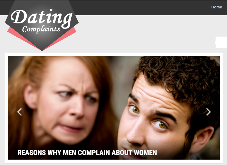 datingcomplaints.com home page screenshot and logo