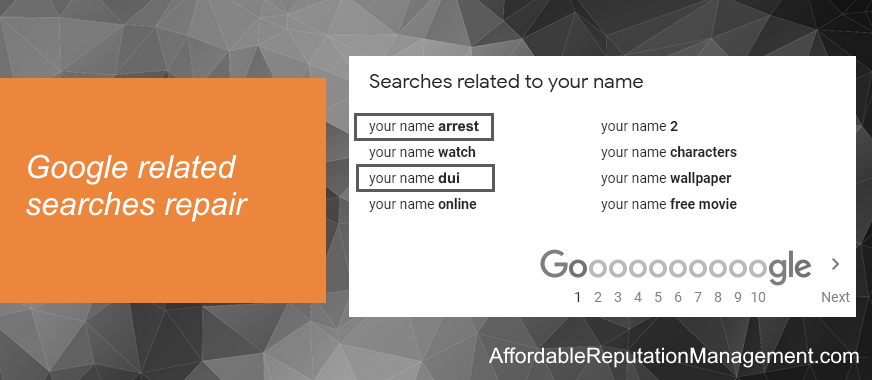 google related searches repair and removal - affordable reputation management