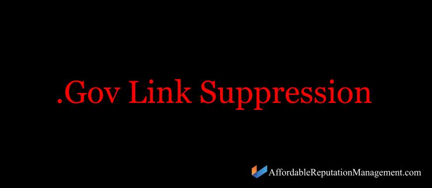 .gov link suppression - justice link suppression - affordable reputation management