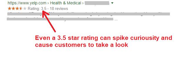 yelp star rating