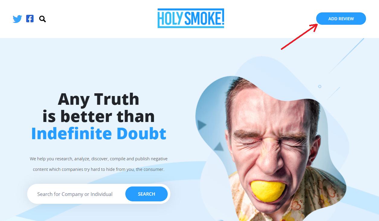 holysmoke add review