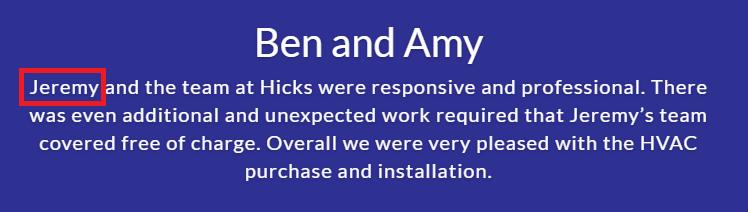 hicks hvac review